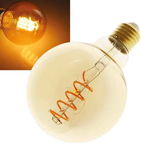 "ChiliTec LED Globelampe 95mm E27\""Vintage G95\"" | 2000k | 280lm | 230V/4W | warmweiß amber"