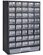 vidaXL Armario de Herramientas 41 Cajones Plastico Caja de Taller Ferretería