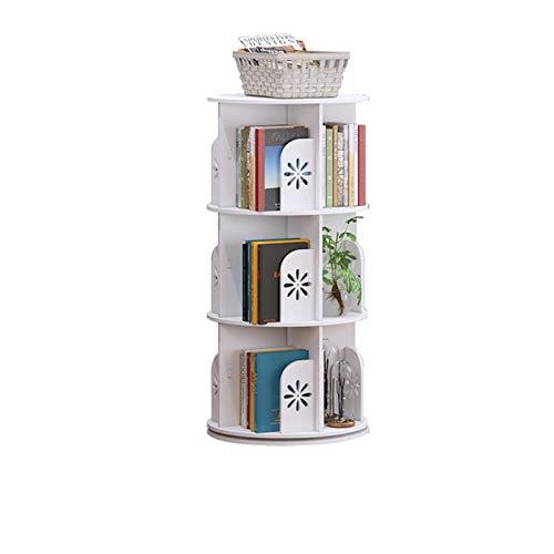 Bibliothèque étagère 360 degrés rotative de la d'étudiante FANJIANI (Color : A, Size : Three Layer)