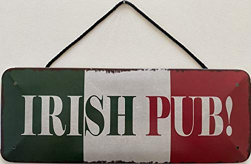 Blechschild mit Kordel 27 x 10 cm Irland Fahne - Irish Pub - Blechemma