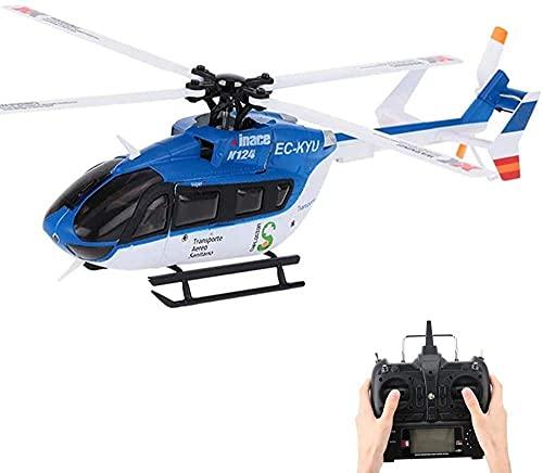 ZHCJH Helicóptero RC 2.4G 6CH Helicóptero 3D 6G Sistema Motor sin escobillas Acrobacias aéreas Modelo Simulación Juguetes voladores para niños y Adultos
