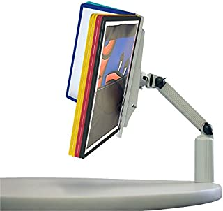 DURABLE Flex Arm Clamp Reference System, 10 Double-Sided Panels, Letter-Size, Assorted Colors, SHERPA Design (556900)