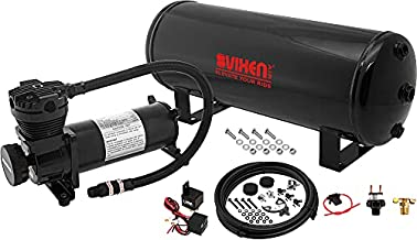 Vixen Air Suspension Kit for Truck/Car Bag/Air Ride/Spring. On Board System- 200psi Compressor, 3 Gallon Tank. for Boat Lift,Towing,Lowering,Leveling Bags,Onboard Train Horn,Semi/SUV VXO4831B