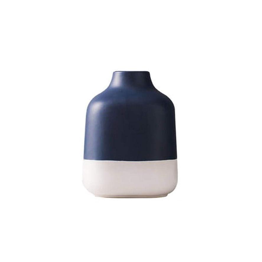 表面的な年金ガスZGSH エレガントな花瓶花瓶、クリエイティブ花瓶、セラミック花瓶、ミニマリストスタイルホームオフィス装飾花瓶。(青、19X 12X 4.3センチメートル) (Color : Blue)
