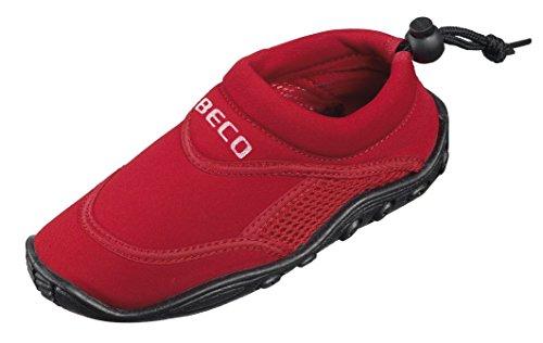 BECO Badeschuhe / Surfschuhe für Kinder rot 28