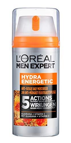 L'Oréal Men Expert Hydra Energy Feuchtigkeitspflege XXL (100ml), die Gesichtscreme mit Guarana und Vitamin C ist die ideale Tages- und Nachtcreme, optimaler Anti-Müdigkeits-Effekt