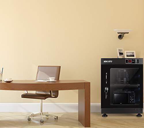 MOKUSTO防湿庫、カメラ防湿庫、カメラ収納ケース、E-ドライボックス、特許済のペルチェ素子による除湿法と、マイコン制御、自動インテリジェント定数ウェット、容量30L。(30L)