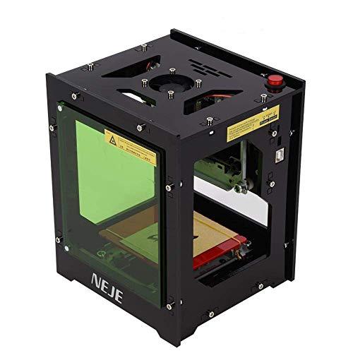 Qiilu Laser Gravur Graviermaschine 1500mw Mini DIY Print Engraver Maschine mit Augenschutz Magnetfolie für Win XP / 7/8 /10 / ios 9.0 / Android 4.0