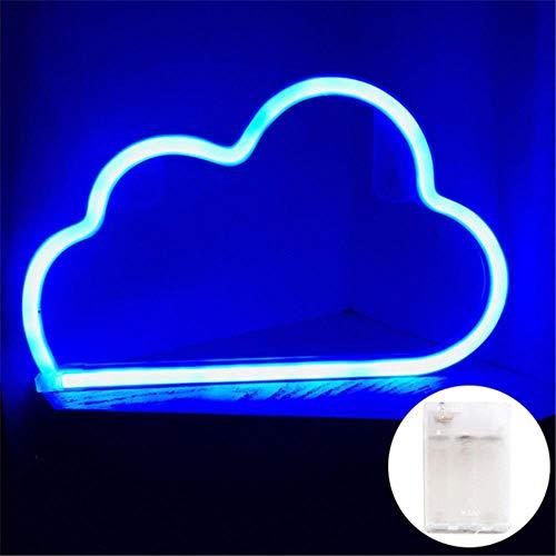 LED Neon Sign Nachtlampje Cloud Design Wandlamp Slaapkamer Bar Ornamenten Kerst Feestdecoratie Vakantie PVC Verlichting Geschenken, Blauw, 36 W