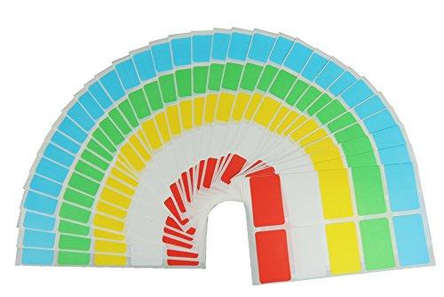 JustRean Live 250 Haushalts Aufkleber & Gefrieretiketten farbig - Gefrier Etiketten 30x20mm selbstklebend