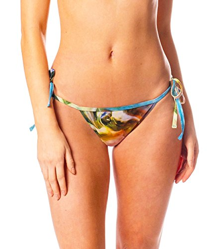 Kiniki Tahiti Tan Through Sonnendurchlässige Seitlich zu bindende Bikinihose Damen Bademode HD Druck