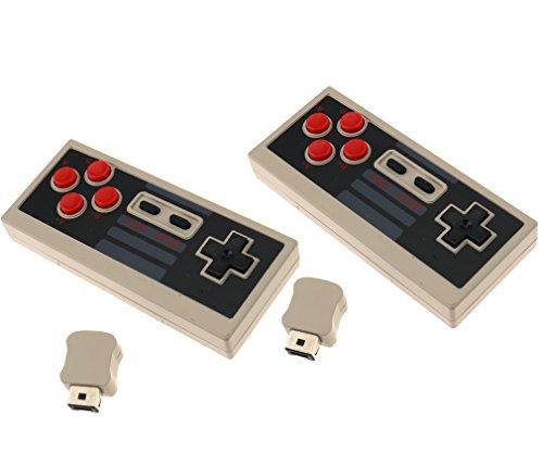 2 x controller di gioco per Nintendo NES senza fili, Mini NES Classic Edition