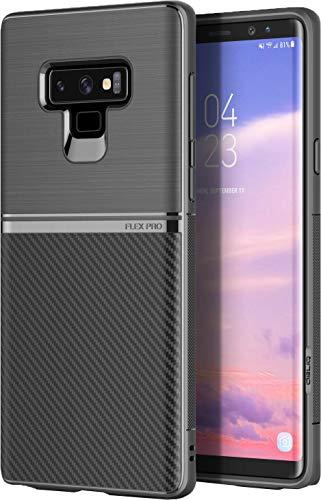 【OBLIQ】 Galaxy Note 9 対応 ケース 衝撃 吸収 耐衝撃 カーボン デザイン 薄型 TPU ソフト カバー ストラップ ホール 付き [ Samsung Galaxy Note9 ギャラクシー ノート 9 対応 ] Flex Pro ブラック
