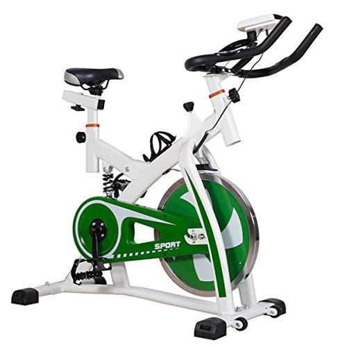 GZMUK - Health & Personal Care La Bicicleta estática Cubierta de Ejercicio físico Bici Giro de Manillar de la Bici y cómodo Asiento de Spin Bicicleta estática con el Monitor LCD para el hogar