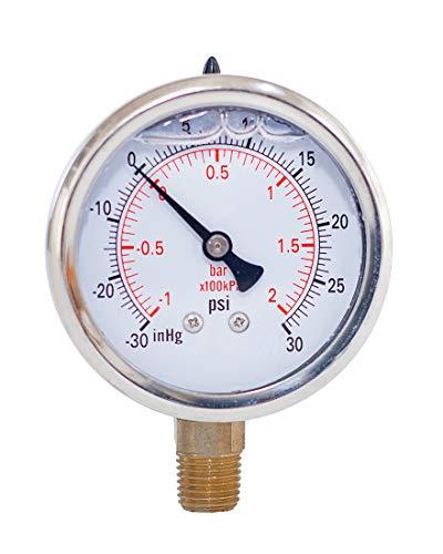 Compound Pressure Gauge,Liquid Filled,2
