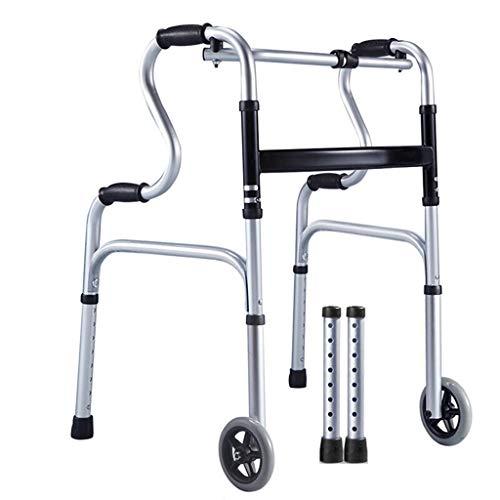 AIDELAI Tablett für Gehhilfen für Senioren, Roller, Alter Mann, leicht, zusammenklappbar, mit Sitz