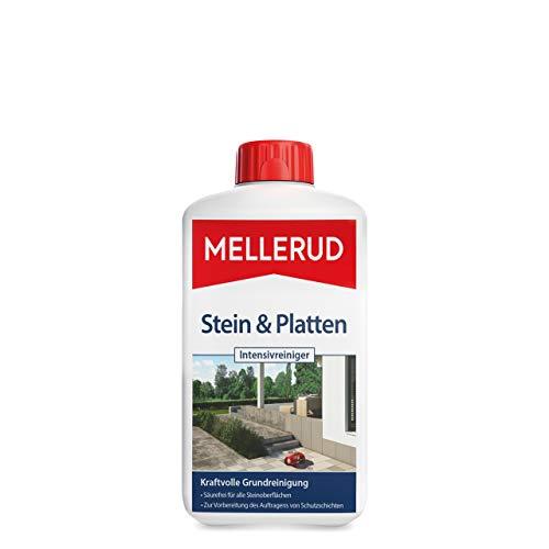 MELLERUD Stein & Platten Intensivreiniger – Effizientes Reinigungsmittel zum Entfernen von Schmutz auf allen Steinoberflächen im Außenbereich – 1 x 1 l