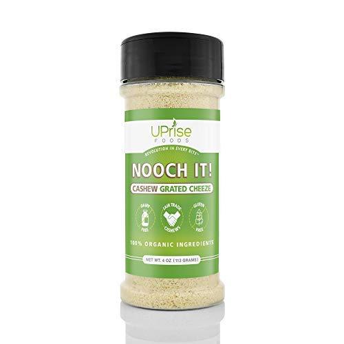 NOOCH IT! Organic Dairy-Free Cashew Grated Cheeze | Vegan Parmesan Tasty Cheese Alternative | 4oz...