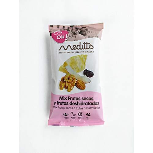 MEDITTS MIX FRUTOS SECOS Y DESH: ENERGIA/OK: Arandanos, piña,coco,nuez en grano y Almendra 200 g