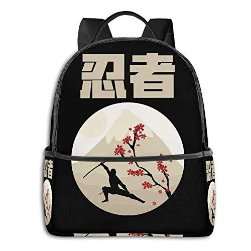 Mochila de escuela para estudiantes Kanji ''Ninja'' con diseño japonés