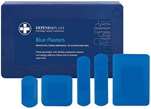 We Can Source It Ltd - 120 X Blau Nachweisbar Gips Catering Erste Hilfe Verschiedene Größen in Kunststoff Kiste