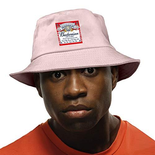 SYDIYIWL Budweiser Bier-Logo Fischerhut Safari Cap Bucket Hat zum Wandern Angeln Strand Schwarz Gr. Einheitsgröße, rose