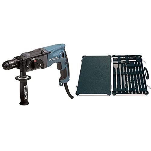 Makita HR2470FT Perforateur burineur SDS plus 780 W et Mandrin interchangeable & D-21200 Kit de...
