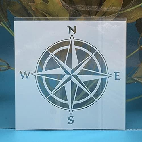 Plantillas para pintar,13 cm,12,7 cm,diseño de círculo,agujero negro,para manualidades,pintura de pared,álbum de recortes para colorear,plantilla de tarjeta de papel decorativo C