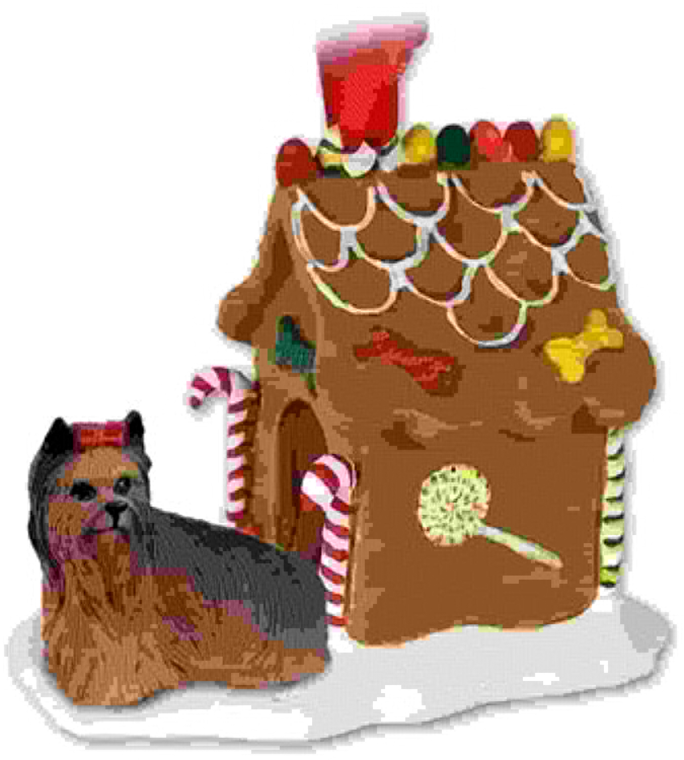 solo para ti Yorkie Yorkie Yorkie Yorkshire Terrier Gingerbread House Christmas Ornament by Conversation Concepts  ofreciendo 100%