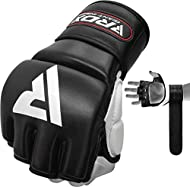 Hand made with genuine full grain leather to fight gloves that last a lifetime Triple Padding shell shock gel equilibrium sheet and supremo-shock foam for unparalleled shock absorption palm-o open palm design with separate sheaths and extra protectio...