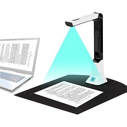 Vogvigo Dokumentenkamera für Lehrer, tragbarer High-Definition-Scanner, A4, Scan-Größe von Klassenzimmern, Büros, Bibliotheken, Bankdokumenten, Erkennungsscanner.