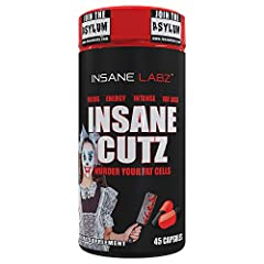 BURN BODY FAT. Insane Cutz is a high stimulant thermogenic fat burner formulated to burn body fat while increasing your energy levels at the same time. Worried about preserving those muscle gains during the cutting phase? Don't fret, Insane Cutz is f...
