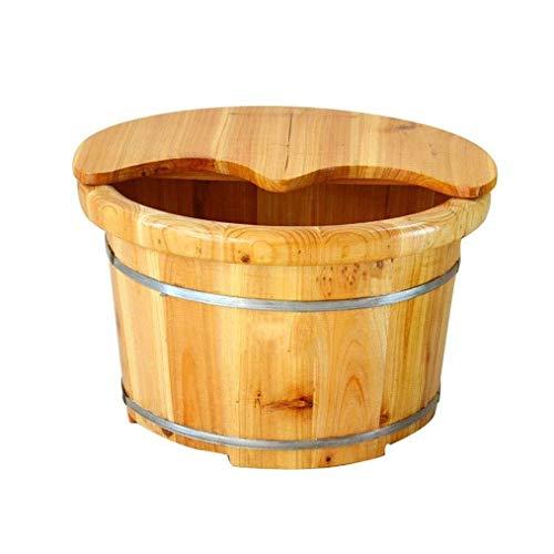 LJBXDCZ NJ vrijstaande badkuip van hout voor voet, gezondheid, voetbad, houten vat voor voetbad, massage, spa, sauna, soak, voetschaal, duurzaam, met deksel Netto