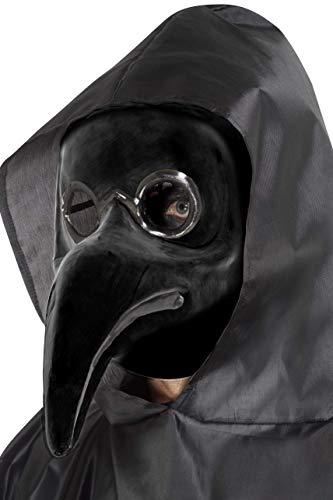Smiffys Authentique masque médecin de peste noir, Noir