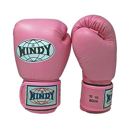 WINDY Guantes de Entrenamiento de Muay Thai, Boxeo, MMA, UFC, Kick Boxing, K1 (Rosa, 12 onzas)