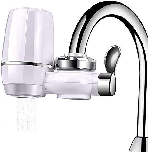 QQSA Purificador De Agua Filtro De Agua para Grifo De Cocina, Interruptor De Filtro para Purificador De Agua del Grifo con Cartucho De Filtro De Cerámica (9 Filtros De Grifo)