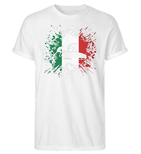 Bobsport 677 - Camiseta para hombre de la Copa Mundial de Italia Blanco M
