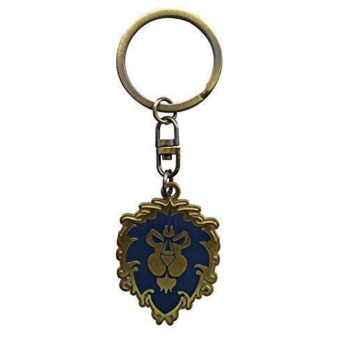 World of Warcraft - Porte-clés en métal avec logo Alliance.