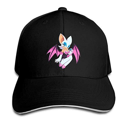 gii6LMLMLFGHLBB Sonic The Hedgehog Rouge Die Fledermaus Sandwich Cap Baseballmütze Unisex Casquette...