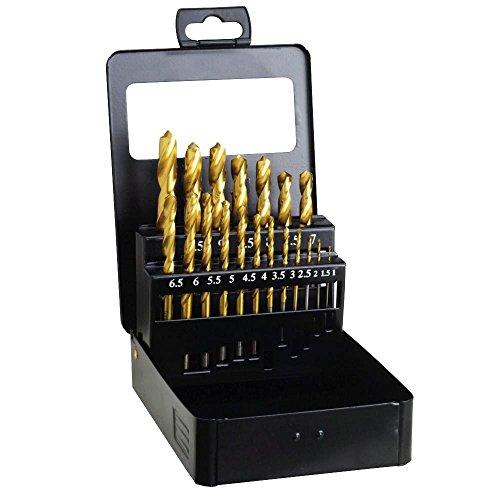 Wolfpack 9060255 Estuche Brocas Hss Titanio 1-10mm 19 Piezas