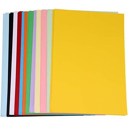 60 Blatt 230g/m² Karton Bunt, Panngu A4 Qualität Bastel-Papier, DIY Zeichen-Pappe zum Basteln für Collagen, Geschenkverpackungen, Gruß- und Glückwunschkarten - 12 Farben