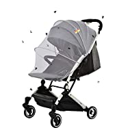 TINABLESS BABY MOSQUITO NET - Designed specially for babies. Made from air-permeable mesh it is small and lightweight, This pram net cover protects your infant or small child from mosquitoes, bees, and other flying insects! PRACTICAL AND RELIABLE - T...