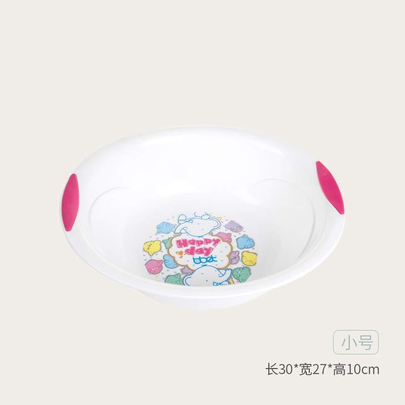 阿斯卡利(ASCARI)bbet巴比象婴儿洗脸盆塑料宝宝小盆子洗脸洗PP新生儿用品儿童家用白色小(图案随机)