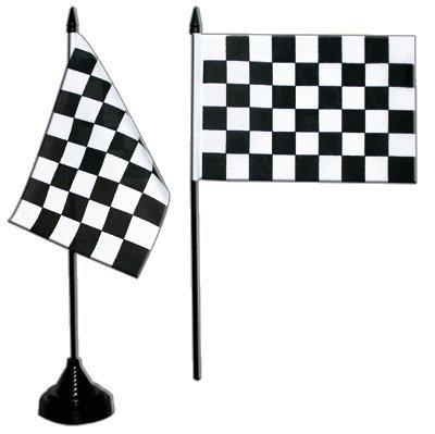 Flaggenfritze Tischflagge/Tischfahne Zielflagge + gratis Aufkleber