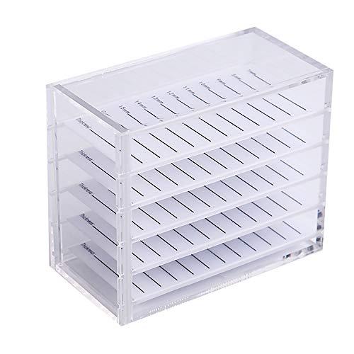 Professionelle Acryl 5-lagig Wimpernverlängerung Aufbewahrungskoffer Box mit Lash Holder Plate Tool...