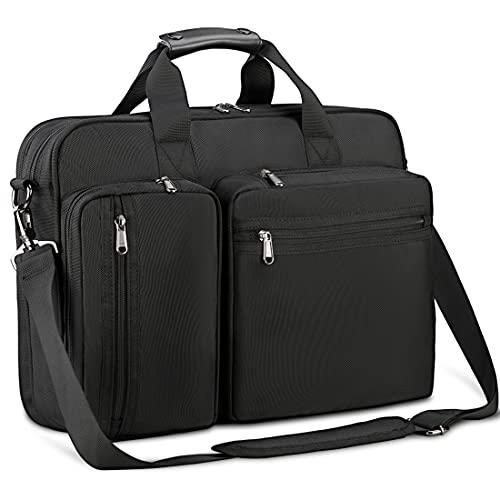 Lubardy ビジネスバッグ メンズ 2気室 大容量 就活 バッグ 2WAY A4対応 大容量 自立 撥水加工 ブラック