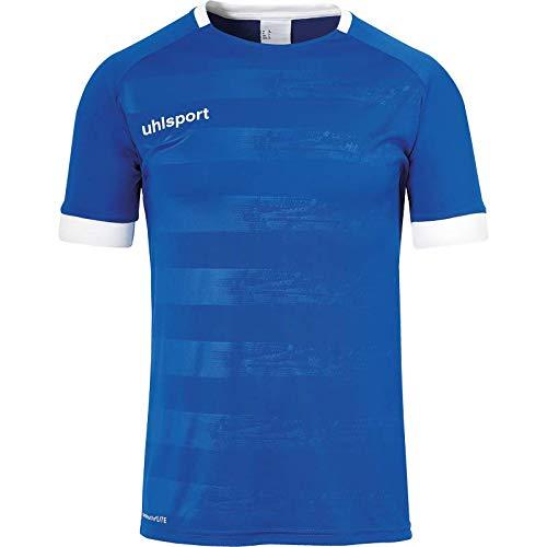 uhlsport Herren Division 2.0 Trikot Kurzarm Fussball Trainingsbekleidung, Blau/Weiß, M
