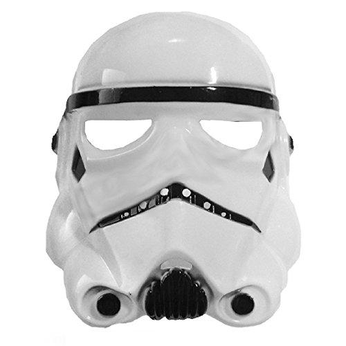 5-8 Ans - Masque Costume - Mascarade - Carnaval - Halloween - Guerrier Blanc - Enfant - Star Wars - Stormtrooper
