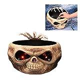 Tazón de plástico con esqueleto, para caramelos, diseño de calavera, decoración de horror para bar, club nocturno, fiesta