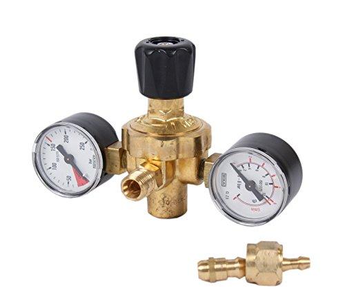 """Druckminderer Schutzgas-Einwegflaschen 2 Manometer 1/4\"""" Abgang (Druckregler, Schutzgasregler)"""